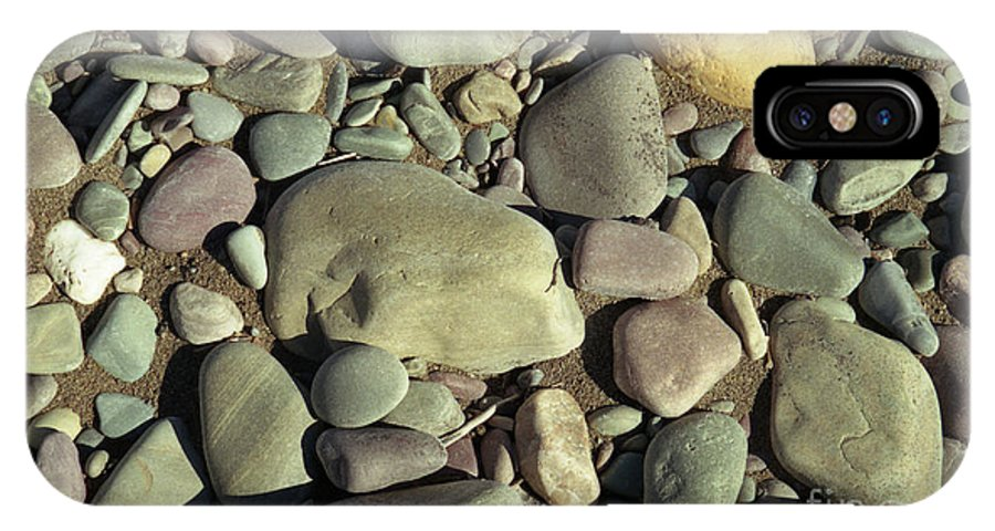 River Rock IPhone X Case featuring the photograph River Rock by Richard Rizzo