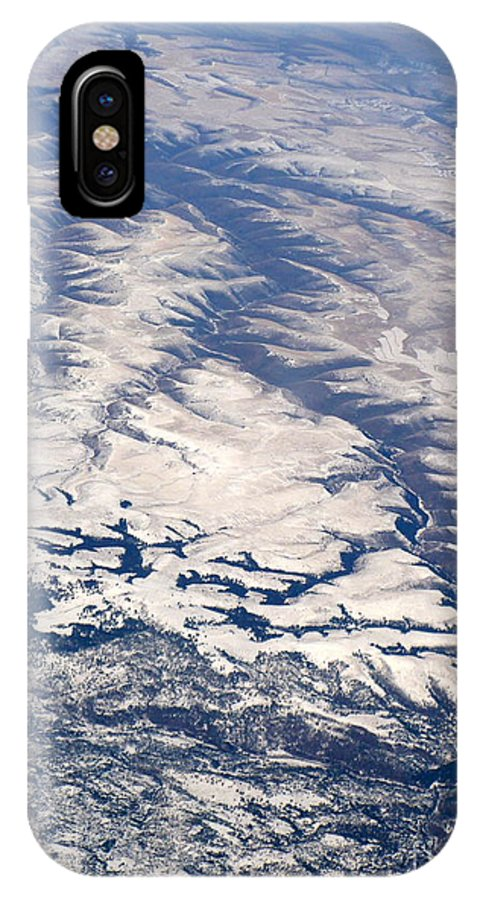 Aerial IPhone X Case featuring the photograph River Valley Aerial by Carol Groenen