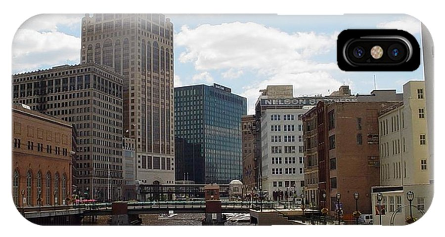 Milwaukee IPhone X Case featuring the photograph River View by Anita Burgermeister