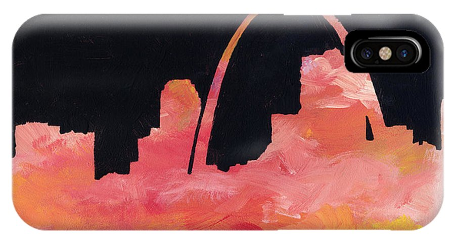 Cityscape IPhone X Case featuring the painting Riverfront by Joseph A Langley