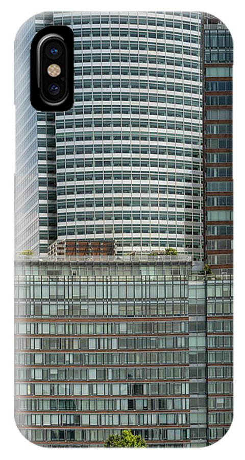 Riverhouse IPhone X Case featuring the photograph Riverhouse, One Rockefeller Park At 2 River Terrace In Battery Park City by David Oppenheimer