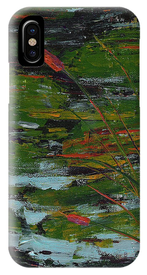River IPhone X Case featuring the painting Rivers Edge by Sole Avaria