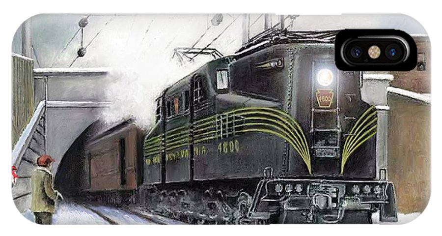 Pennsylvania Railroad IPhone X Case featuring the painting Rivets by David Mittner