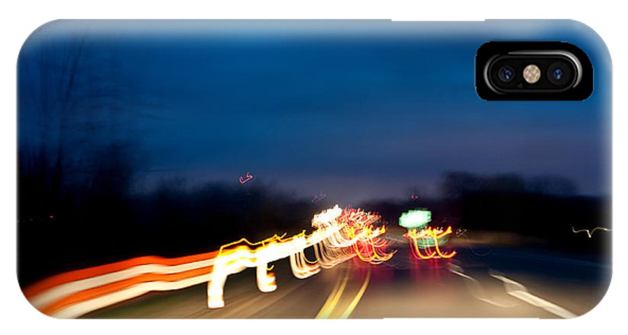 IPhone X Case featuring the photograph Road At Night 4 by Steven Dunn