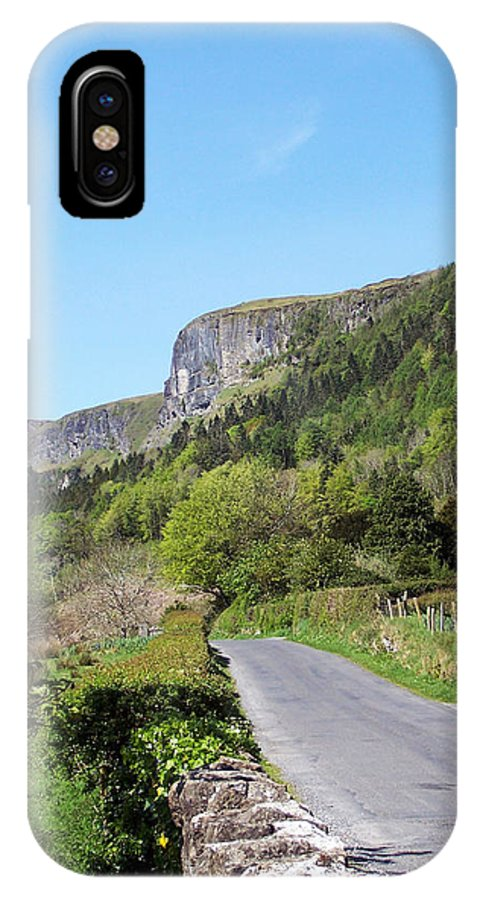 Irish IPhone X Case featuring the photograph Road To Benbulben County Leitrim Ireland by Teresa Mucha