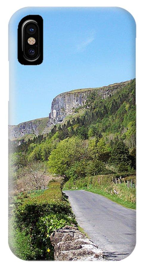 Irish IPhone X Case featuring the photograph Road To Benbulben County Leitrim Ireland by Teresa Mucha