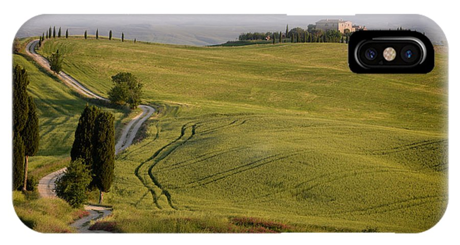 Terrapille IPhone X Case featuring the photograph Road To Terrapille In Tuscany by IPics Photography