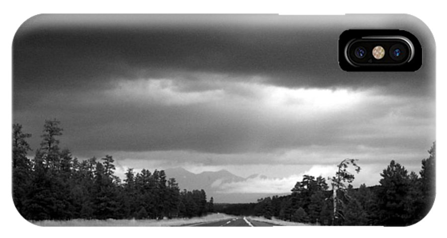 Highway IPhone X Case featuring the photograph Road Trip by Carol Sweetwood