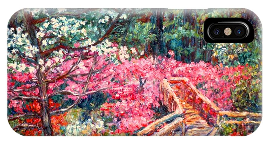 Garden IPhone X / XS Case featuring the painting Roanoke Beauty by Kendall Kessler