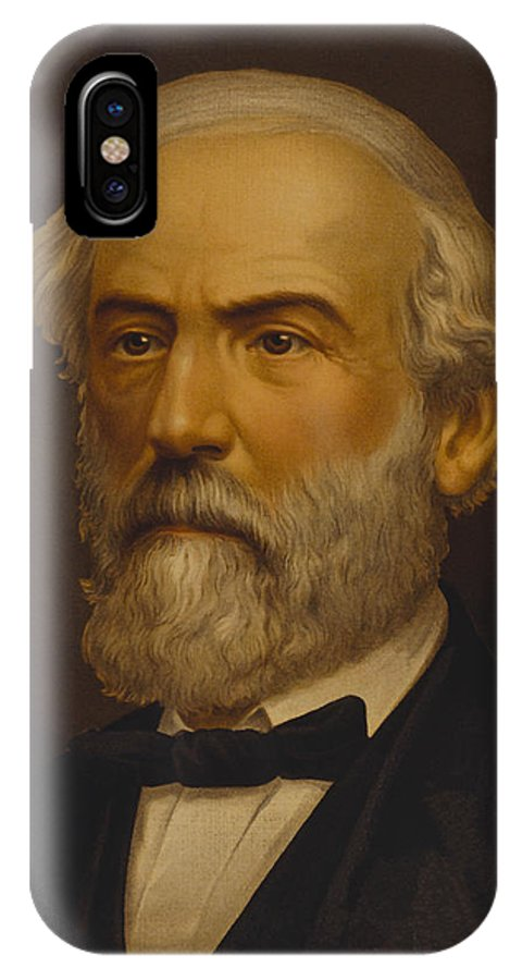 Robert E Lee IPhone X / XS Case featuring the painting Robert E. Lee Painting by War Is Hell Store