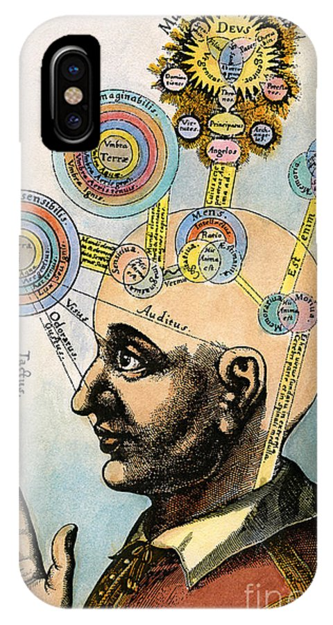 Brain IPhone X Case featuring the drawing Robert Fludd, 1574-1637 by Granger