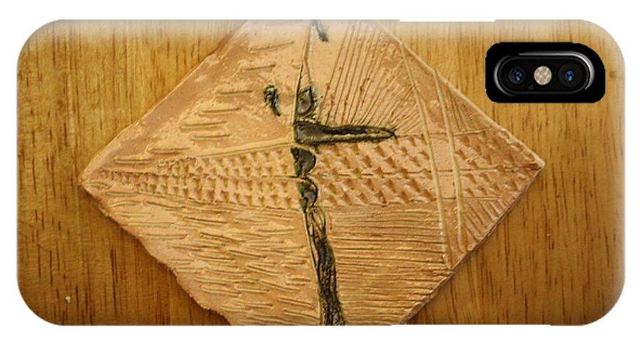 Jesus IPhone X Case featuring the ceramic art Rock - Tile by Gloria Ssali