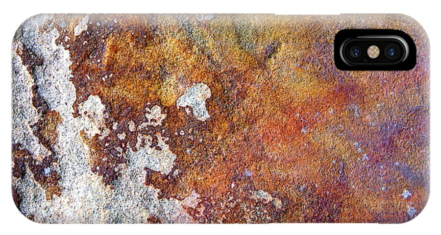 Abstract IPhone X Case featuring the photograph Rock Abstract 1 by John Lautermilch