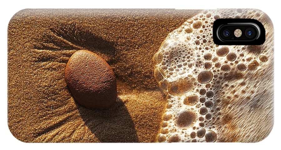 Rock IPhone Case featuring the photograph Rock And Surf-1 by Steve Somerville