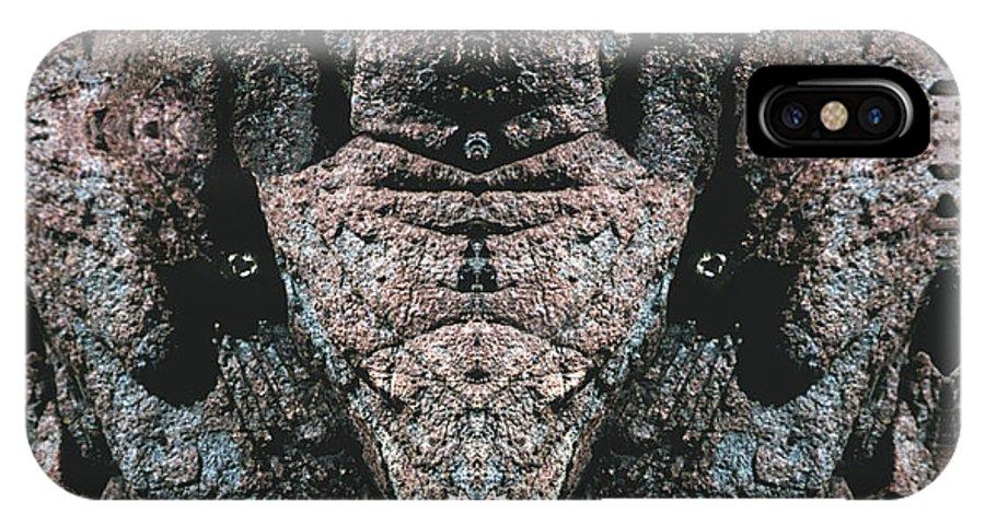 Rocks IPhone X Case featuring the digital art Rock Gods Elephant Stonemen Of Ogunquit by Nancy Griswold