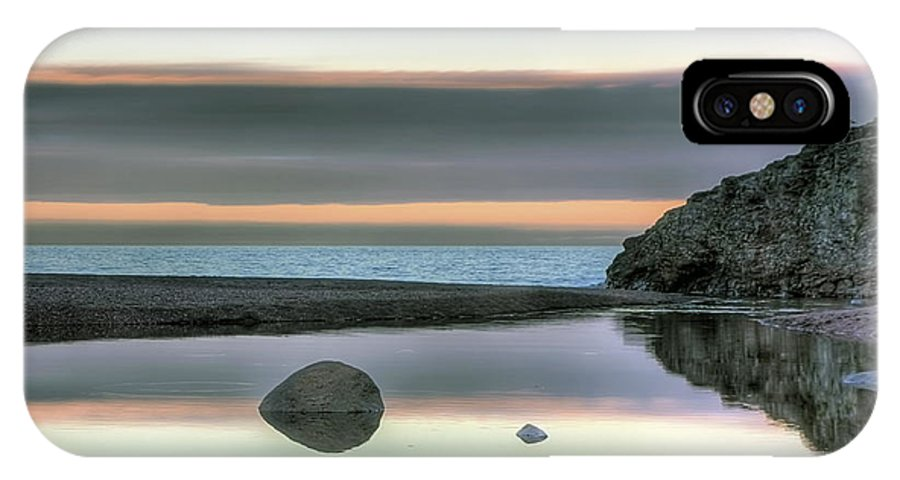 Rocks IPhone X Case featuring the photograph Rock Reflections by Bryan Benson