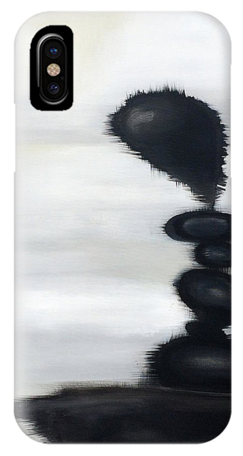 Modern Art IPhone X Case featuring the painting Rock Sculpture 2 by Jill English