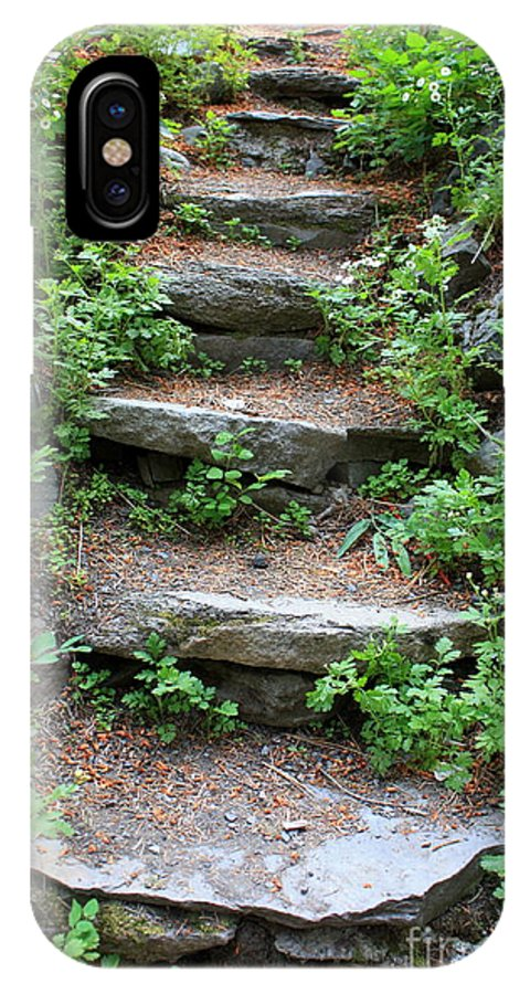 Rock Stairs IPhone X Case featuring the photograph Rock Stairs by Carol Groenen