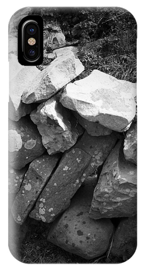 Irish IPhone Case featuring the photograph Rock Wall Doolin Ireland by Teresa Mucha