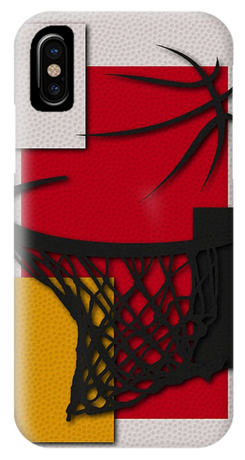 Rockets IPhone X Case featuring the photograph Rockets Hoop by Joe Hamilton