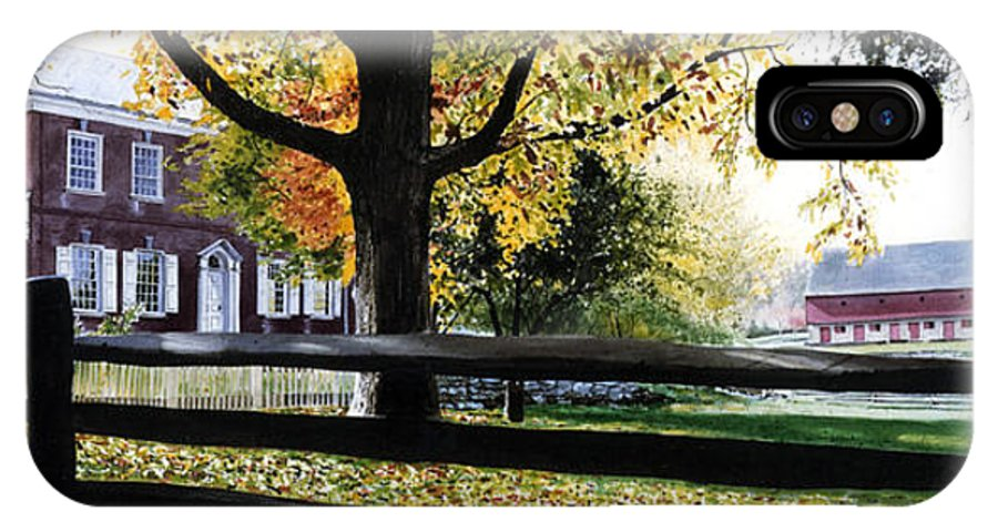 Lancaster County Pa IPhone X Case featuring the painting Rockford In Autumn by Denny Bond