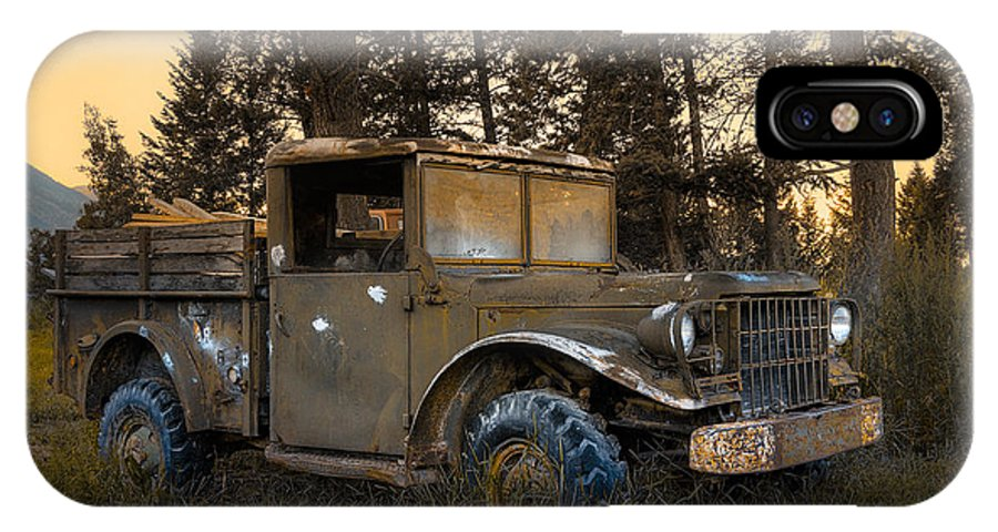 Rockies IPhone X Case featuring the photograph Rockies Transport by Wayne Sherriff
