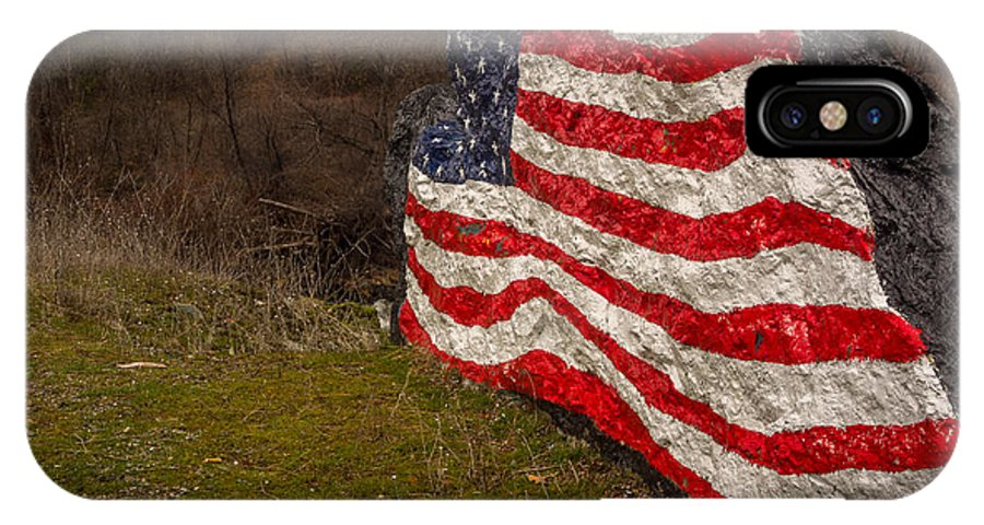 American IPhone X Case featuring the photograph Rockin' The Flag by Michele James