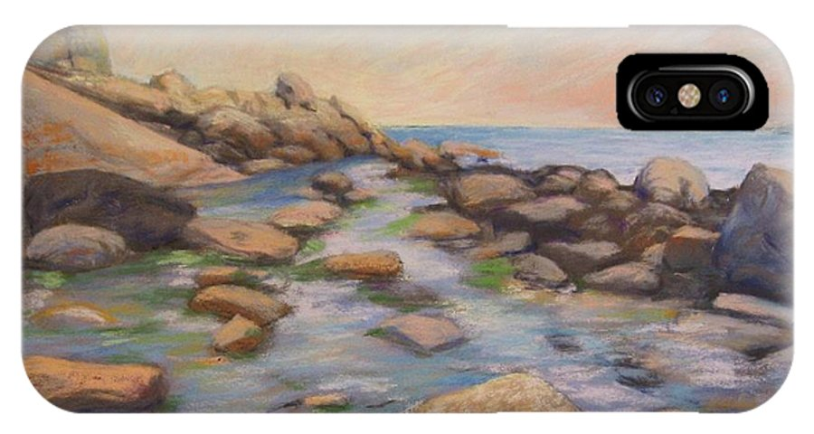 Mcgrath IPhone Case featuring the painting Rockport Harbour by Leslie Alfred McGrath
