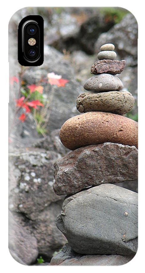 Rocks IPhone Case featuring the photograph Rocks And Roses by Kelly Mezzapelle