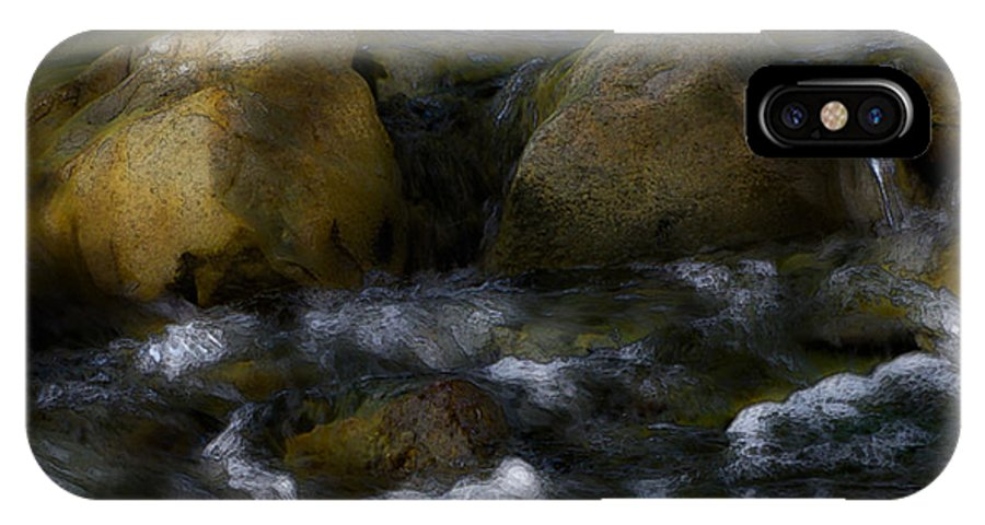 Rocks IPhone X Case featuring the photograph Rocks And Water by Karen W Meyer