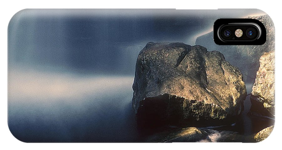 Rocks IPhone X Case featuring the photograph Rocks And Waterfalls by D'Arcy Evans