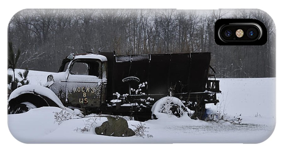 Dump Truck IPhone X Case featuring the photograph Rocks B Us 2 by David Arment