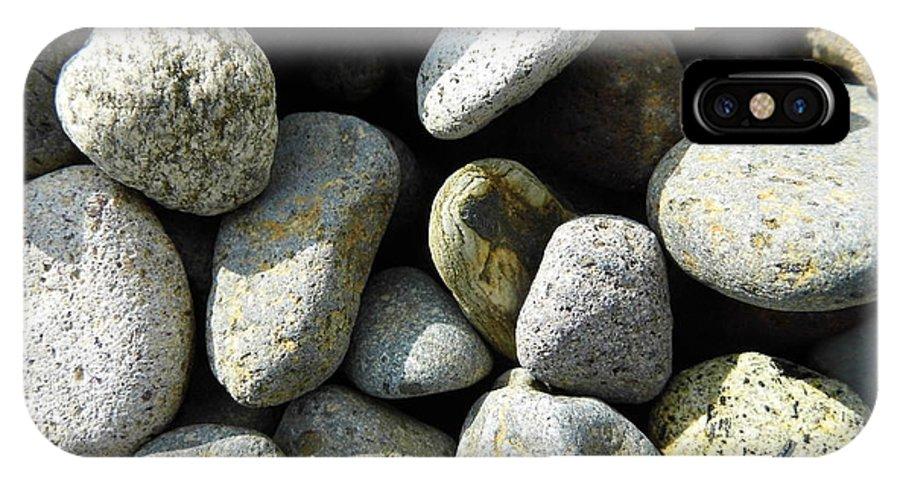 Rock IPhone X Case featuring the digital art Rocks by Palzattila