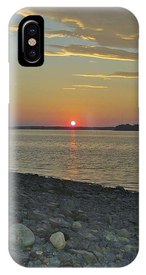 Rock IPhone Case featuring the photograph Rocks Watch The Sunset by Faith Harron Boudreau