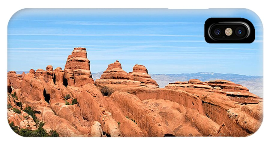 Utah IPhone X Case featuring the photograph Rocksky by David Lee Thompson