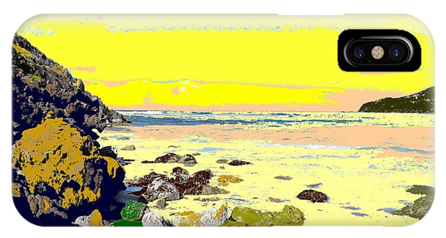 Beach IPhone X Case featuring the photograph Rocky Beach by Ian MacDonald