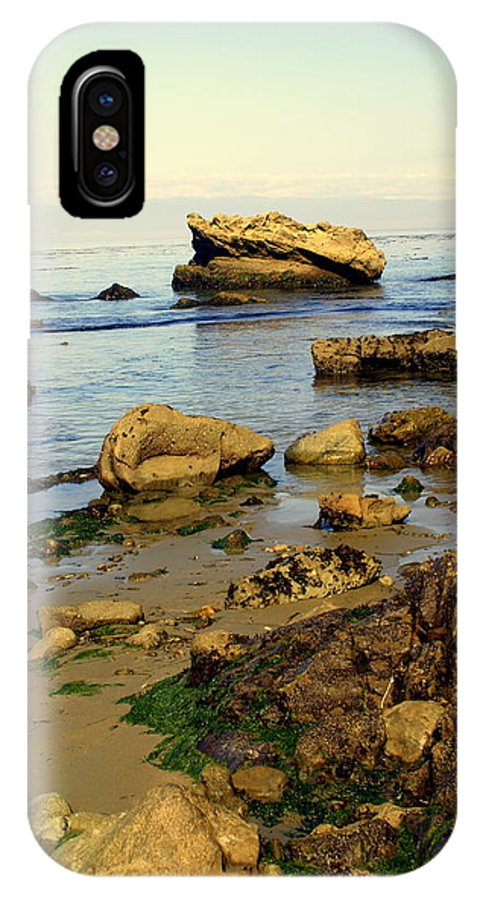 Beach IPhone X Case featuring the photograph Rocky Beach by Marty Koch