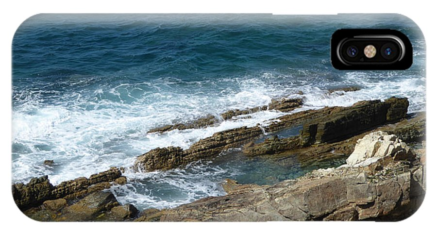 Caribbean IPhone X Case featuring the photograph Rocky Coastline by Margaret Brooks