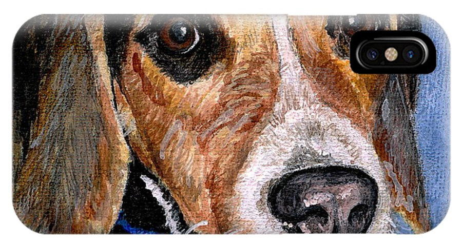 Dog IPhone Case featuring the painting Rocky by Mary-Lee Sanders