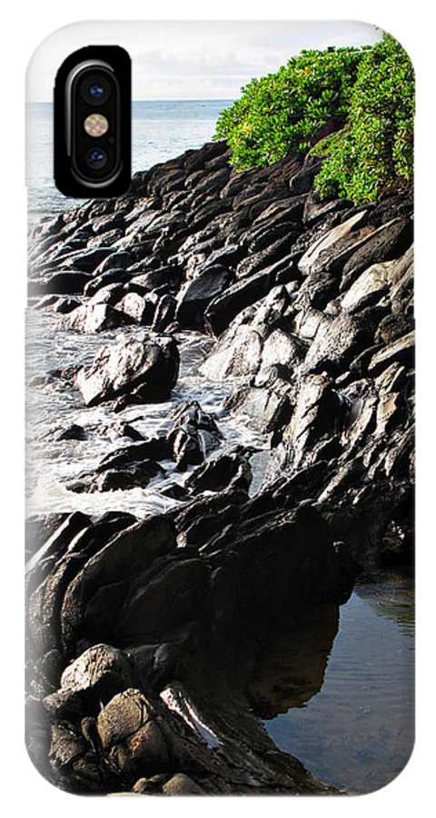 Maui IPhone X Case featuring the photograph Rocky Maui Coast by Joan Minchak