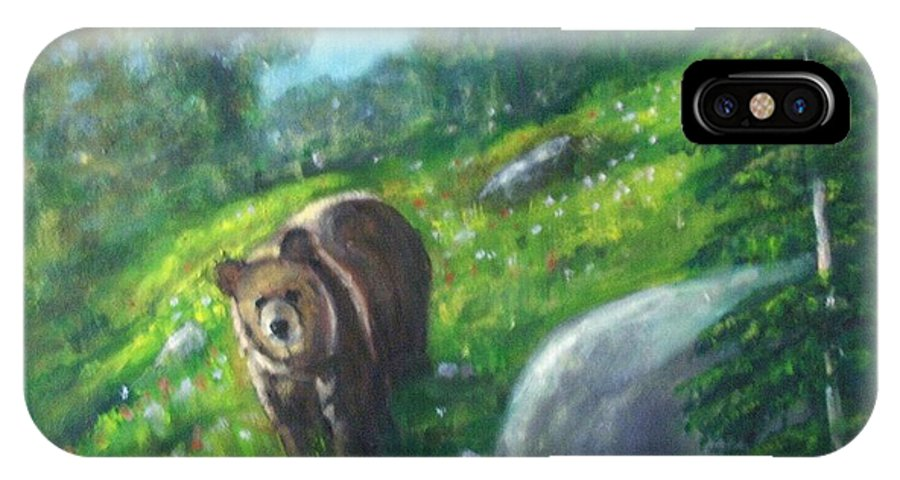 Wildlife IPhone Case featuring the painting Rocky Mountain Spring by Darla Joy Johnson