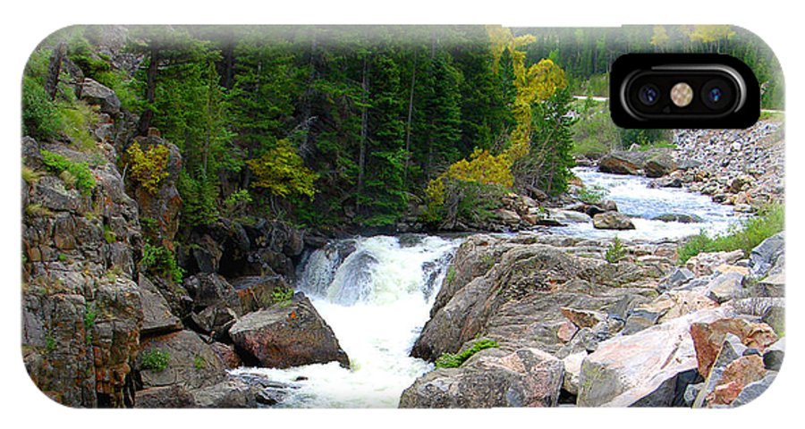 Landscape IPhone X Case featuring the photograph Rocky Mountain Stream by John Lautermilch