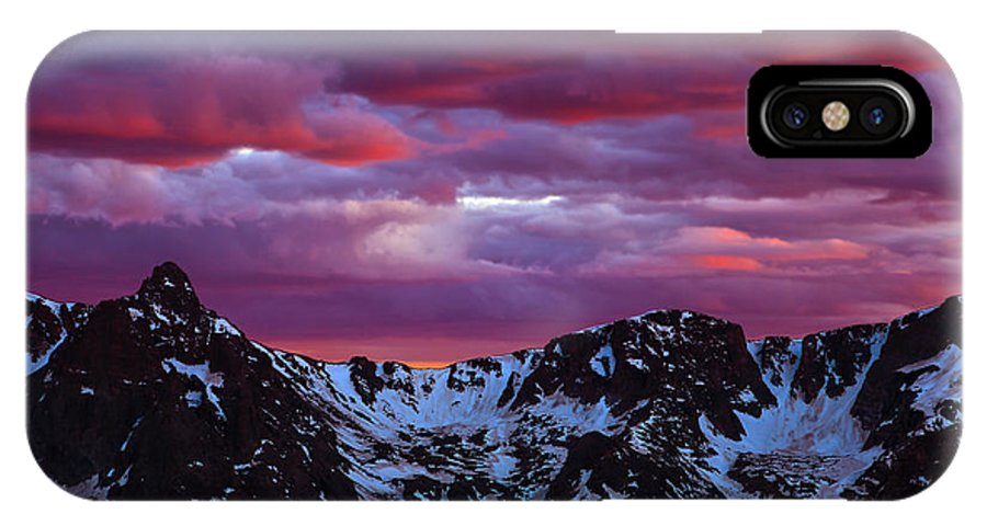 Weather IPhone X / XS Case featuring the photograph Rocky Mountain Sunset by James Menzies