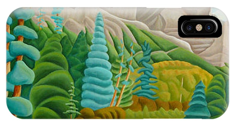 Landscape IPhone X Case featuring the painting Rocky Mountain View 2 by Lynn Soehner