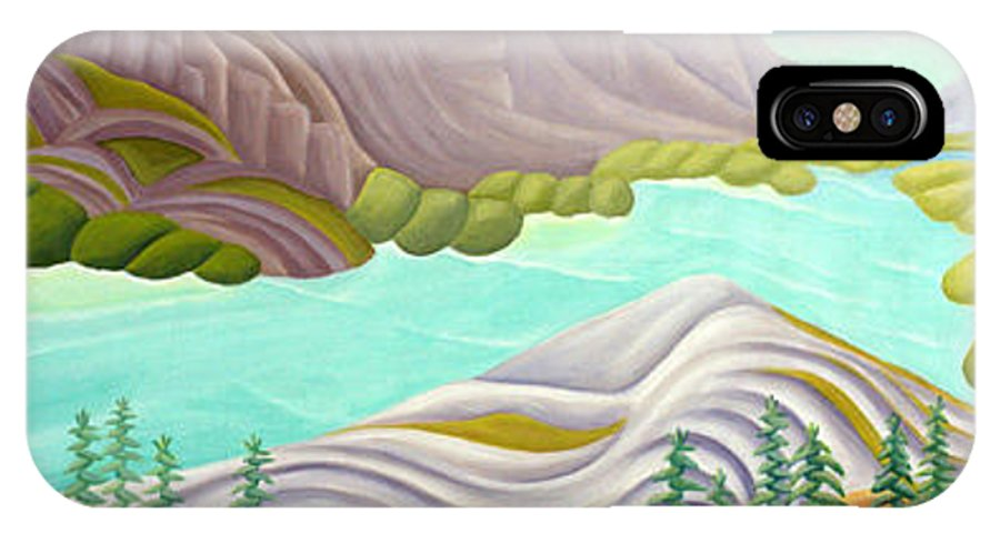 Landscape IPhone X Case featuring the painting Rocky Mountain View 6 by Lynn Soehner