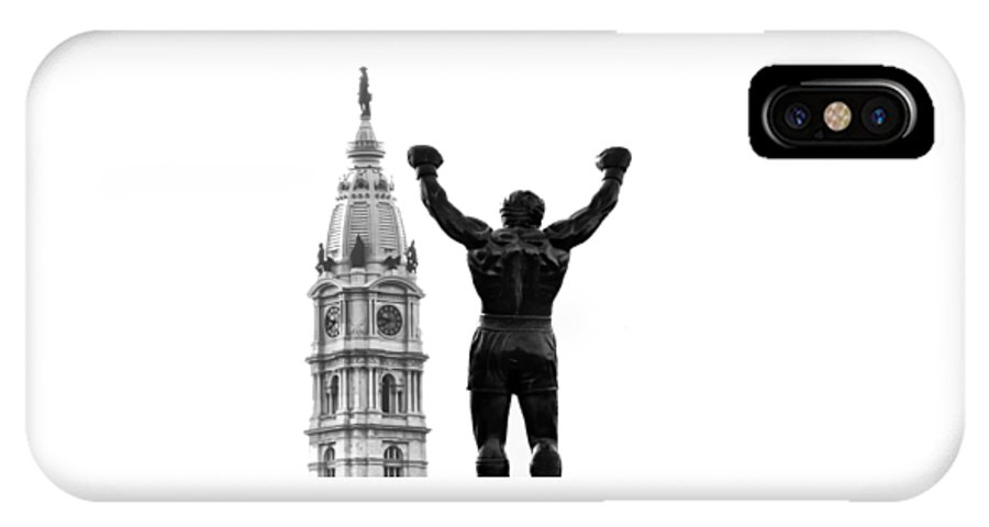 Rocky IPhone X / XS Case featuring the photograph Rocky - Philly's Champ by Bill Cannon