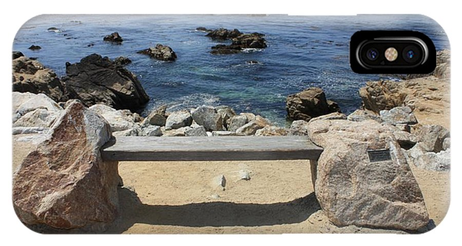 Seaside Bench IPhone X Case featuring the photograph Rocky Seaside Bench by Carol Groenen