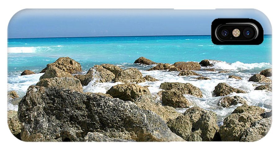 Landscape IPhone Case featuring the photograph Rocky Shore--cancun by Connie Diane Richards