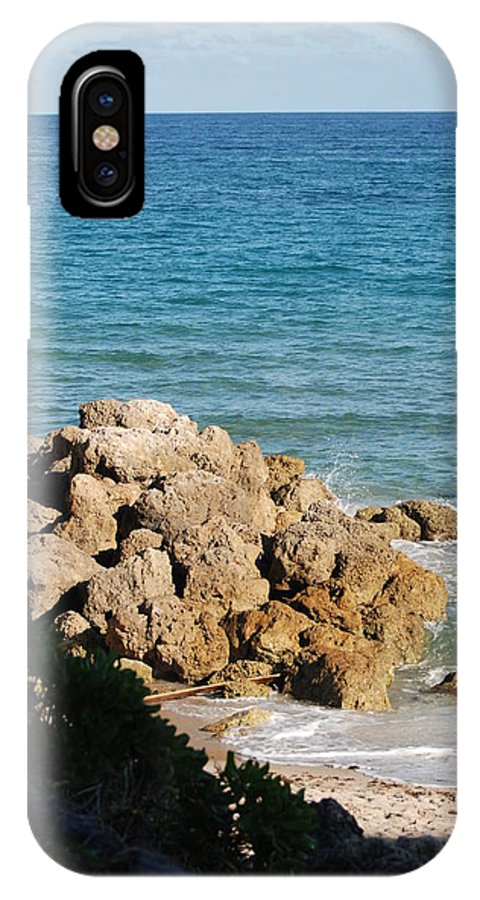 Sea Scape IPhone Case featuring the photograph Rocky Shoreline by Rob Hans