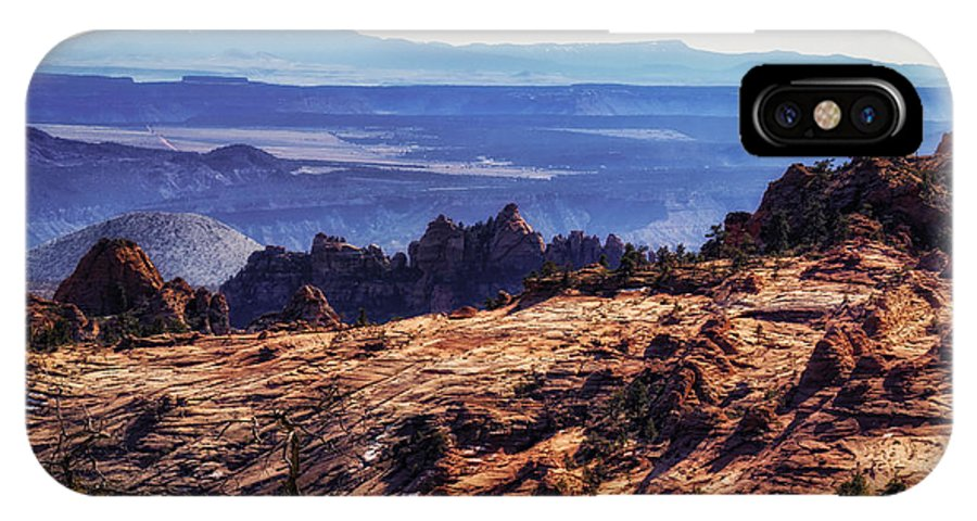 National Park IPhone X Case featuring the photograph Rocky View by Mitch Johanson